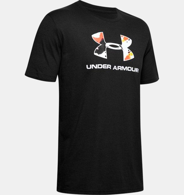 UAアップストリームカモ スポーツスタイル ロゴ ショートスリーブ(トレーニング/MEN)