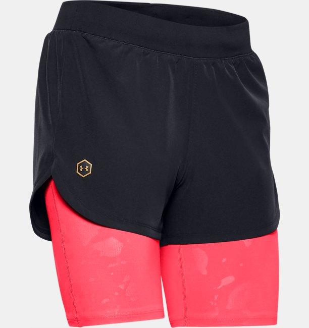 Pantalón corto 2 en 1 UA RUSH™ Run Upstream Camo para mujer