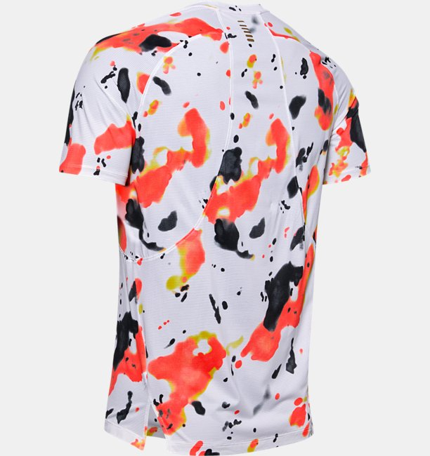 Mens UA Qualifier Run Iso-Chill Upstream Camo Short Sleeve