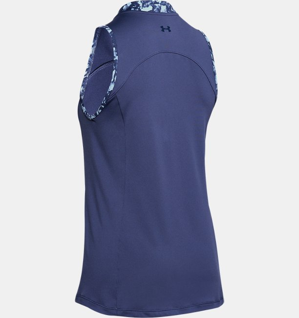 Womens UA Zinger Zip Sleeveless Polo