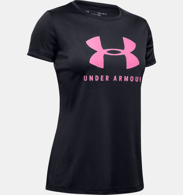 Girls UA Tech™ Big Logo Short Sleeve