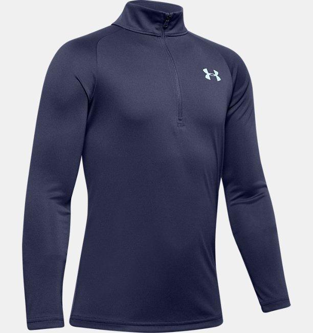 Jongensshirt UA Tech™ 2.0 met korte rits en lange mouwen