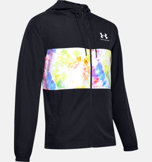 Mens UA Pride Sportstyle Wind Hooded Jacket