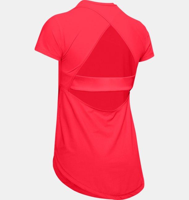 Womens UA Breathelux Stretch Open Back Short Sleeve
