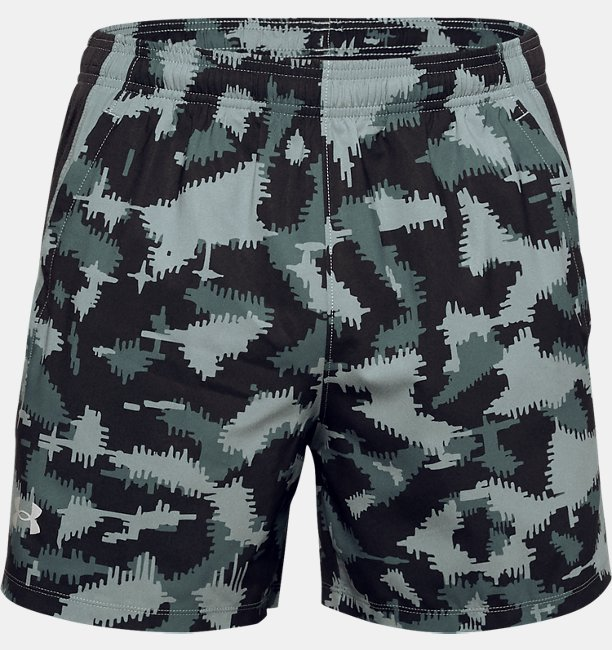 Mens UA Launch SW 13 cm Camo Shorts