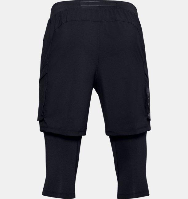 Mens UA Run Anywhere 2-in-1 Long Shorts
