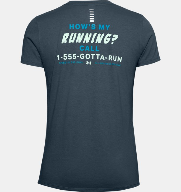 Womens UA Hows My Running Short Sleeve