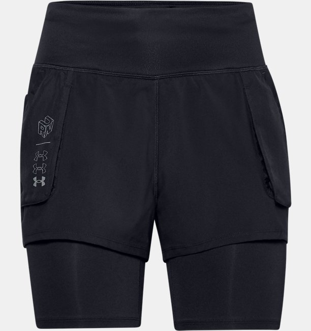 Womens UA Run Anywhere 2-in-1 Shorts