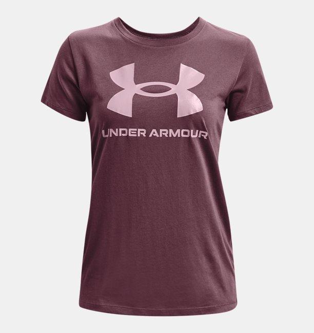 UAライブ スポーツスタイル グラフィックショートスリーブ クルー(トレーニング/WOMEN)