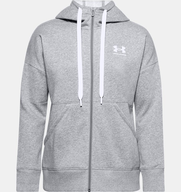 Womens UA Rival Fleece Full Zip Hoodie