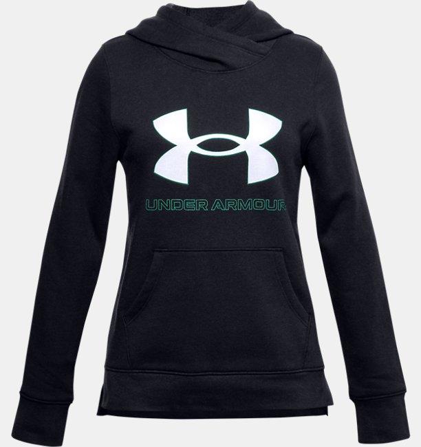 Mädchen UA Rival Fleece Hoodie mit Logo