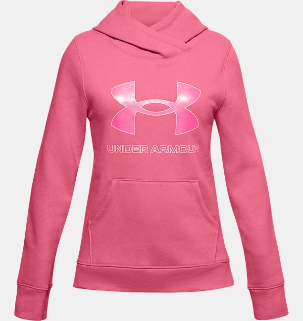 Girls UA Rival Fleece Logo Hoodie