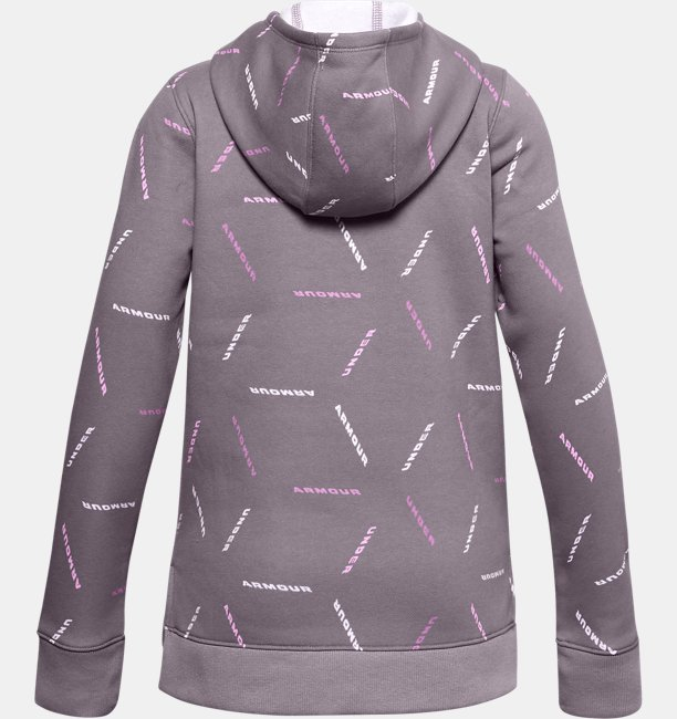 Girls UA Rival Fleece Printed Hoodie