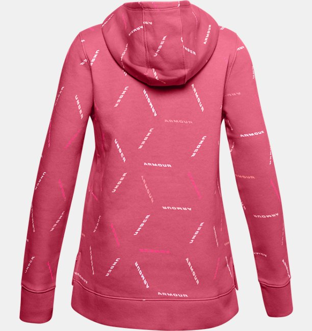Girls UA Rival Fleece Printed Hoodie
