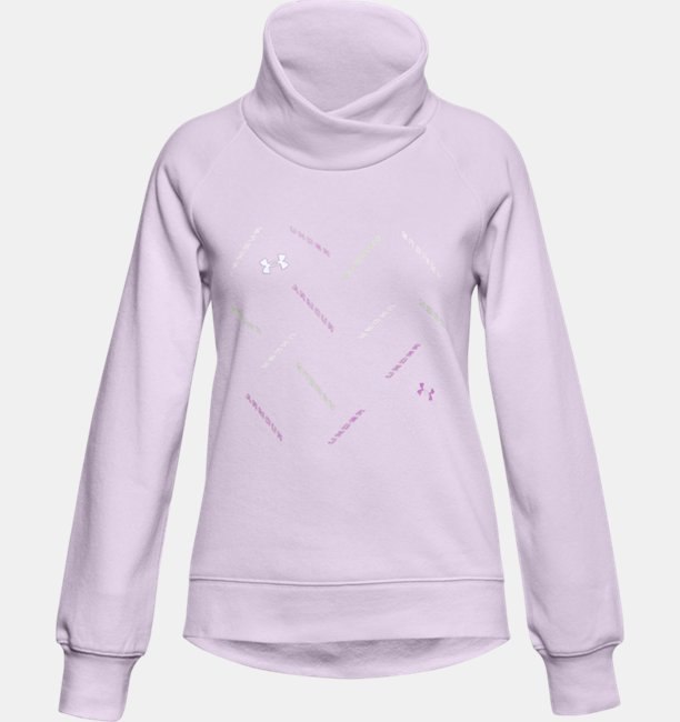 Girls UA Rival Fleece Wrap Neck