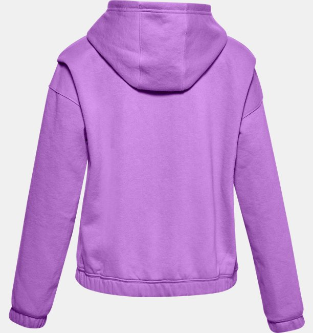 Girls UA Rival Fleece Full-Zip Hoodie