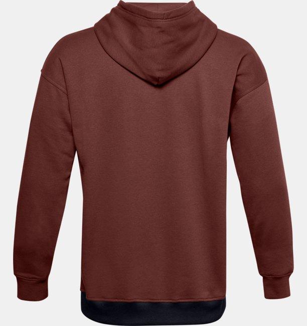 Sudadera con Capucha UA Rival Fleece Colorblock para Hombre