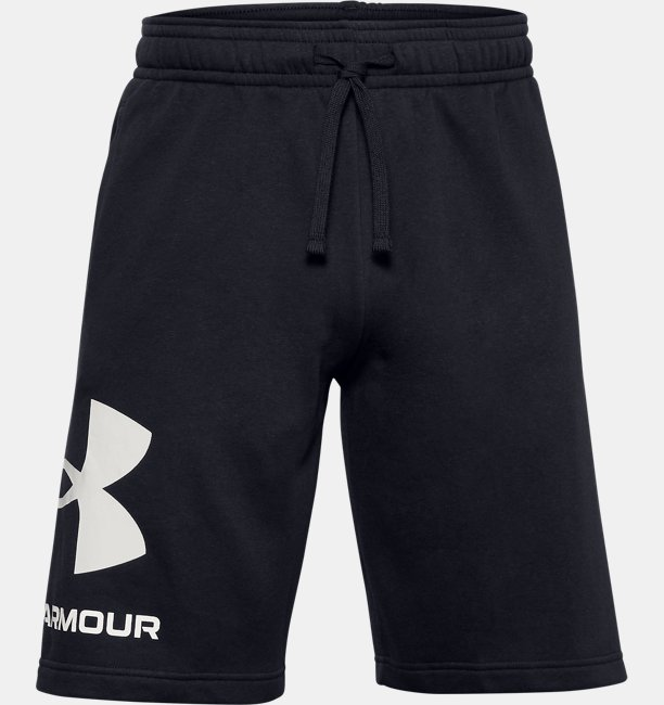 Mens UA Rival Fleece Big Logo Shorts