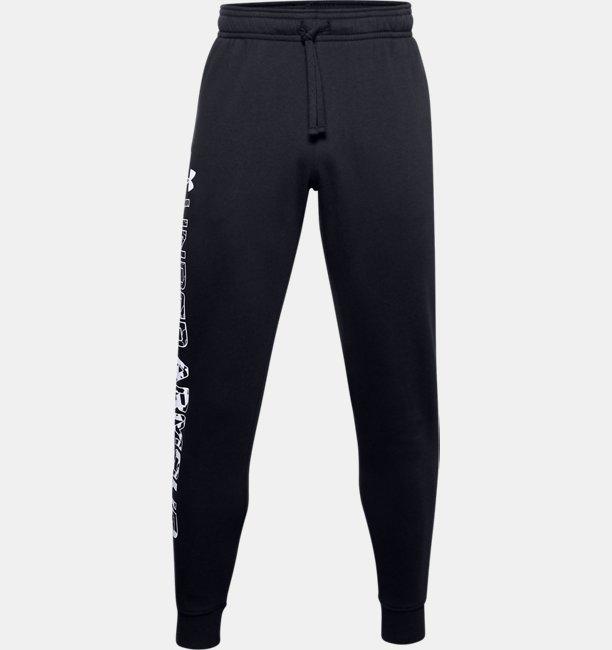 Pantalones de Entrenamiento UA Rival Fleece Graphic para Hombre