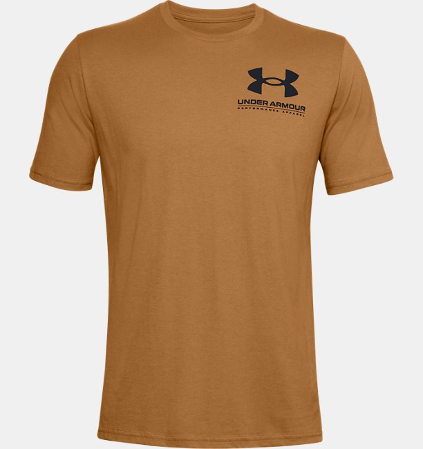 Mens UA Performance Big Logo Short Sleeve