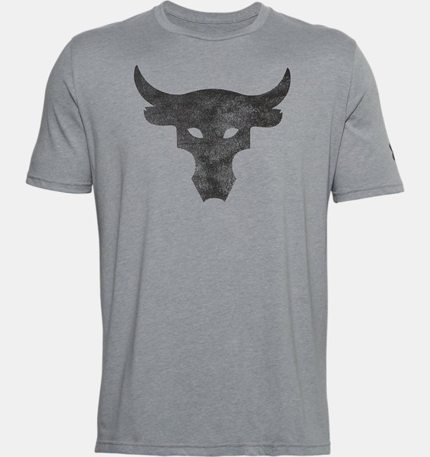 Mens Project Rock Brahma Bull Logo Short Sleeve