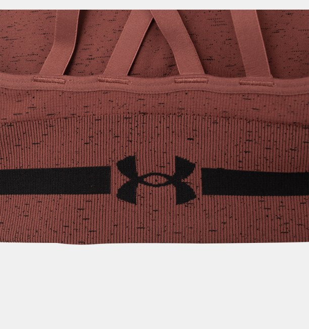 Womens UA Seamless Low Long Heather Sports Bra