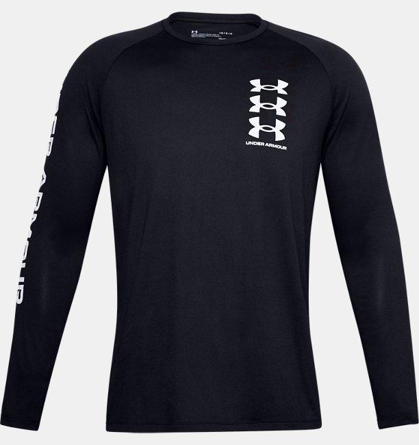 Mens UA Tech™ Triple Logo Long Sleeve