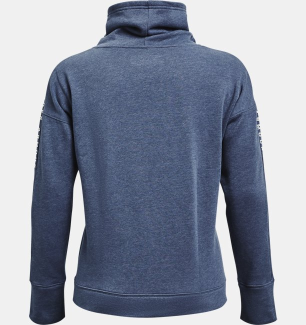Sudadera Cuello Tipo Embudo UA Taped Fleece para Mujer