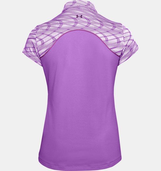 Womens UA Zinger Zip Short Sleeve Polo
