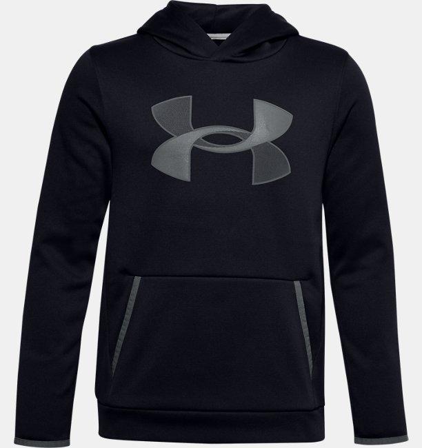Erkek Çocuk Armour Fleece® Big Logo Kapüşonlu Üst