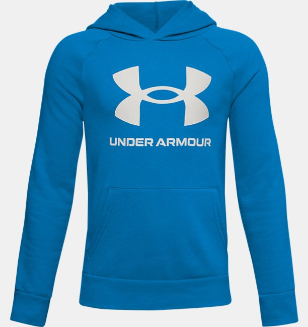 Boys UA Rival Fleece Big Logo Hoodie