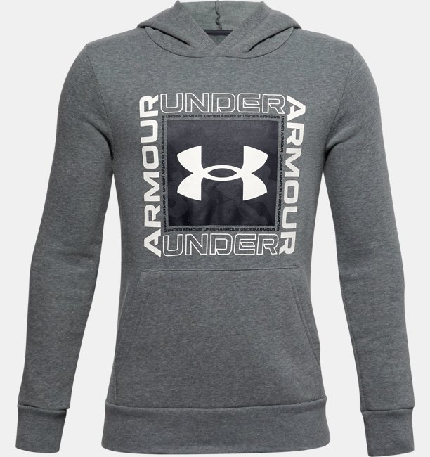 Boys UA Rival Fleece Box Logo Hoodie