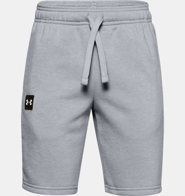 Boys UA Rival Fleece Logo Shorts