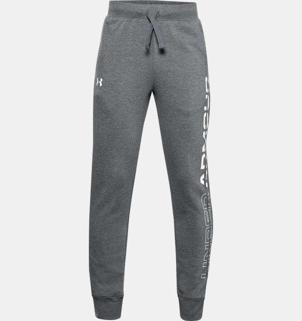 Pantalones de Entrenamiento UA Rival Fleece Graphic para Niño