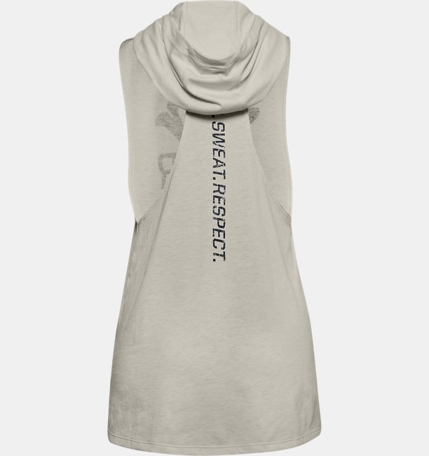 Damen Project Rock Tanktop mit Kapuze