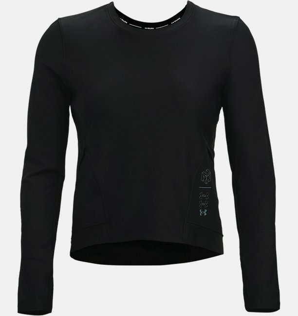Womens UA Run Anywhere Cropped Long Sleeve
