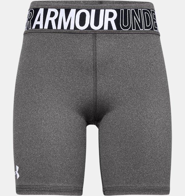 Girls HeatGear® Armour Heathered Bike Shorts