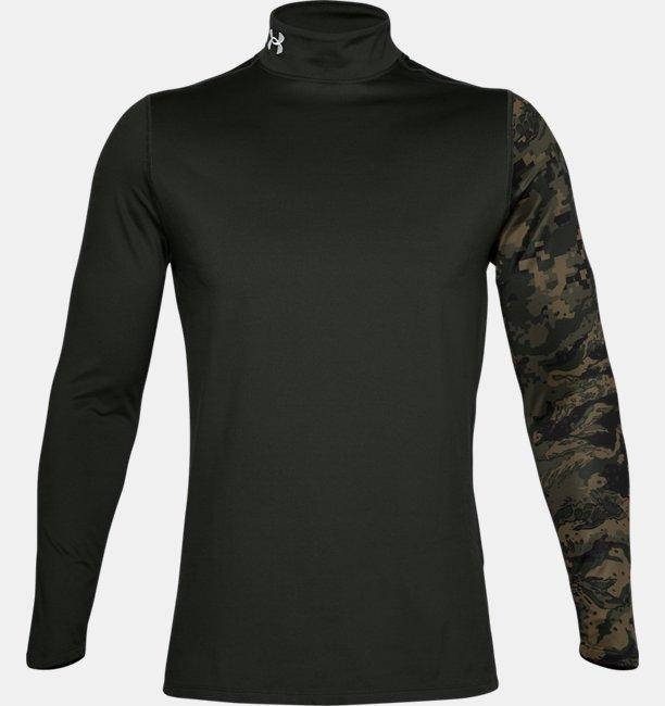Mens ColdGear® Armour Printed Mock