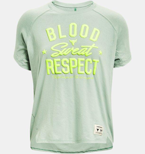 UAプロジェクトロック  ショートスリーブ 〈BLOOD SWEAT RESPECT〉(トレーニング/WOMEN)
