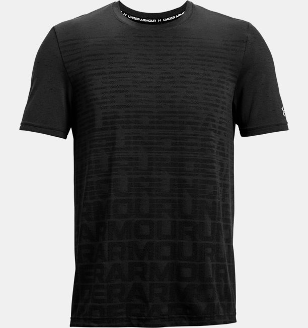 Mens UA Seamless Wordmark Short Sleeve
