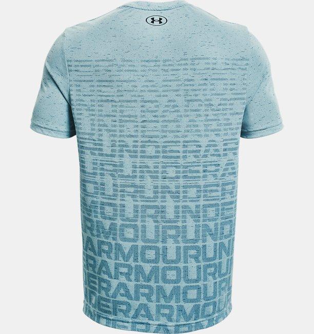 Mens UA Seamless Wordmark Short Sleeve
