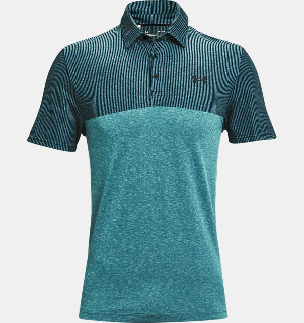 Mens UA Vanish Seamless Blocked Polo