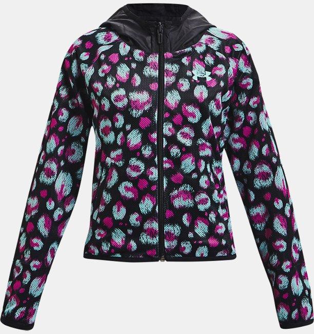 걸즈 UA 우븐 리버서블 재킷