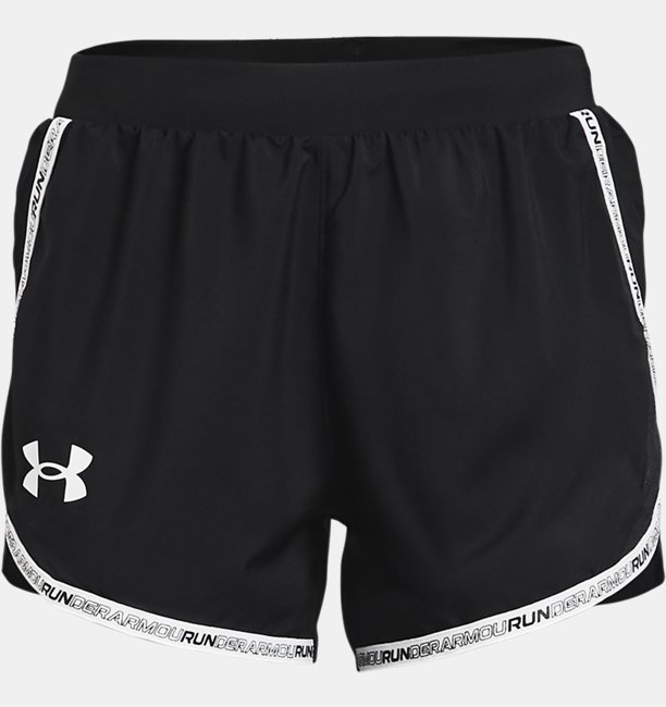 Womens UA Fly-By 2.0 Brand Shorts