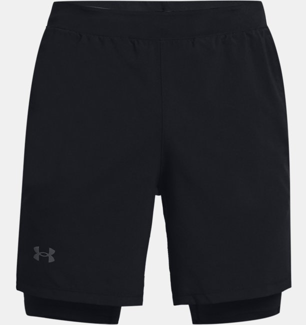 Mens UA Launch Run 2-in-1 Shorts