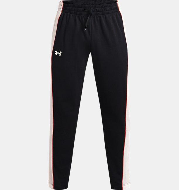 Mens UA Rival Fleece AMP Snap Pants