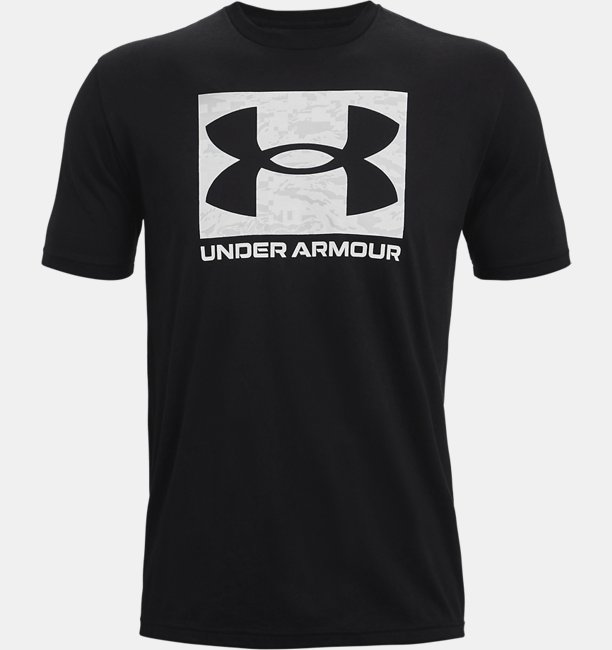 Erkek UA ABC Camo Boxed Logo Kısa Kollu