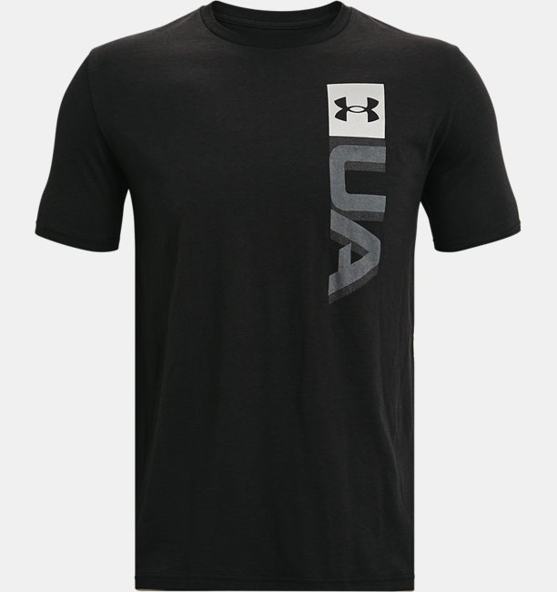Mens UA Boxed Wordmark Short Sleeve