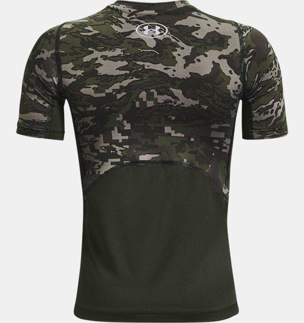 Jongensshirt HeatGear® Armour Printed met korte mouwen
