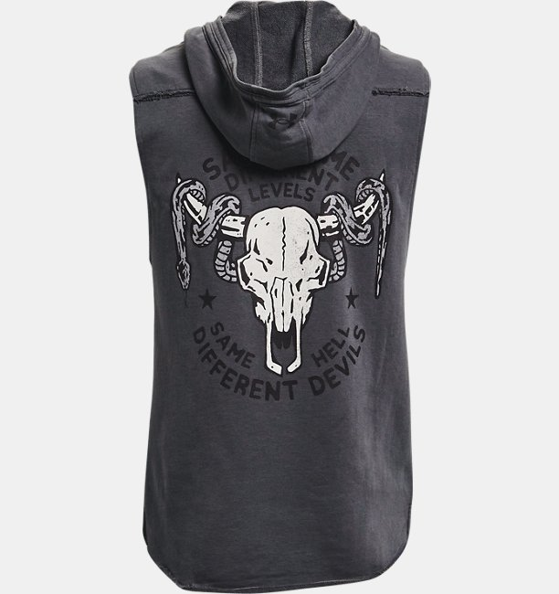 Mens Project Rock Terry Snake Sleeveless Hoodie